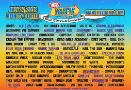 Warped Tour Seating Chart Vans Warped Tour Xfinity Center Mansfield Massachusetts