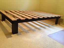 diy platform bed frame wood