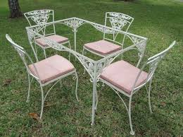 Vintage Wrought Iron Patio Table And Chairs FPCdining