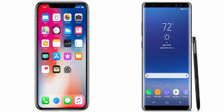 iphone or samsung. apple iphone x vs. samsung galaxy note 8: fighting for the $1,000 title iphone or