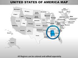 Editable Map Of Usa For Powerpoint Usa Alabama State Powerpoint County Editable Ppt Maps And Templates