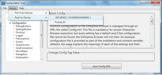 if multiple config xml files are desired for exle to test the behavior of various settings select file save file as to save and or rename additional