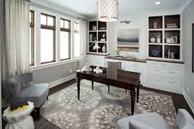 amusing in home office ideas 27 breathtaking decorating with pattern rug and dark wood table white cabinets plus armchairs also shade pendant lighting decor home office decorating d84 decorating