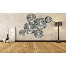 inhouse 6 pcs mirror finish handmade metal wall art sculpture wall decor and hanging on metal wall art mirror uk with inhouse 6 pcs mirror finish handmade metal wall art sculpture wall