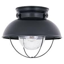w 1light black outdoor flush mount nautical flush mount light l5