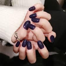 24pcs/Set Elegant Purple False Nails Korean style simple Fake Nail ...