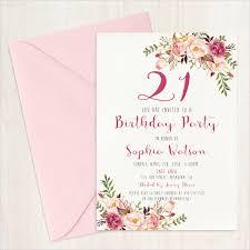 21st birthday invitation card