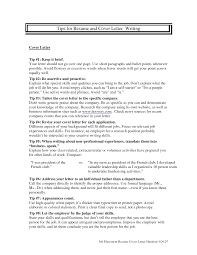 Resume Cover Letter Cover Letter For Resume In French Therpgmovie 35