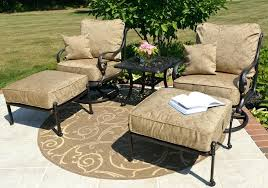 patio chair and ottoman patio chair with ottoman set awesome 2 person luxury cast aluminum patio