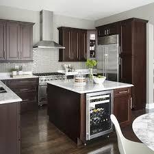 Beautiful Kitchen Backsplash Glass Tile Dark Cabinets Subway Countertop Ideas Tiles Intended Models Design