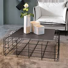 wire coffee table. Contemporary Coffee Table / Metal Square - WIRE By Luca Roccadadria Wire