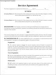 Service Agreement Samples Sample Service Agreement Template Master T Contract Free