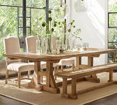 stafford reclaimed pine extending dining table pottery barn throughout dining room tables pottery barn