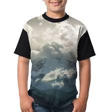 Amazon Com Kids Raglan T Shirts Snow Mountain Nature Peak