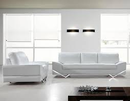 0744 White Leather Sofa and chair