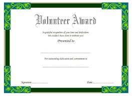 Vbs Certificate Template Volunteer Award Certificate Template Free 3 One Package