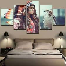 indians falcon girl modern canvas 5pcs hd print feather frame living room decor unbranded artdeco on large christian canvas wall art with last supper canvas art lat supper wall art last supper large