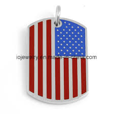 china customized square dog tag usa flag pendant china pendant flag pendant