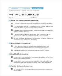 8 Project Evaluation Checklist Templates Free Samples Examples