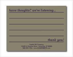 Survey Cards Templates Comment Card Template Free Under Fontanacountryinn Com