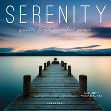Graphique Serenity Quotes Mini Calendar 16 Month 2019 Calendar 7x7 W 3 Languages 4 Month Preview Marked Holidays