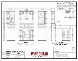 wine cellar builders chicago illinois design drawing plan dave barrel wine cellar designs