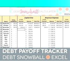 Credit Card Debt Calculator Excel Payoff Spreadsheet Snowball