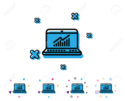 Data Analysis And Statistics Line Icon Report Graph Or Chart