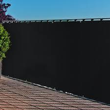 Amazon De Balkonblende Mit Sen Pe Balkon Bespannung 0 9x3m