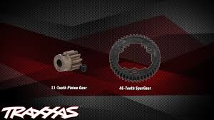 Rc Spur And Pinion Gear Chart Gearing Setup Traxxas Support