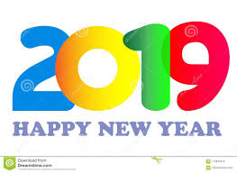 Happy New Year 2019 Card Text Design Stock Vector - Illustration of ...