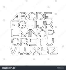 stock vector simple hand drawn alphabet letters from a to z drawn with ink on white paper vector isolated on