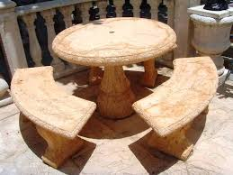 cement tables concrete with 3 benches picnic garden outdoor round table and furniture for perth