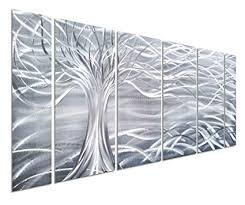 pure art willow tree of life metal wall art abstract silver sculpture decor 3d wall on metal wall art trees willow with amazon pure art willow tree of life metal wall art abstract