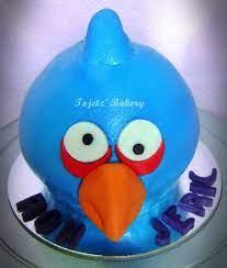 Blue Angry Bird Cake | Angry birds cake, Childrens birthday cakes, Blue  cakes