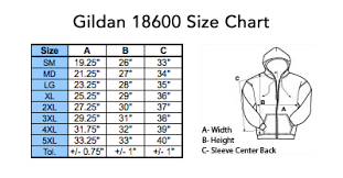 Gildan Zip Up Hoodie Size Chart Hoodie Sizing Girls Clothing Stores