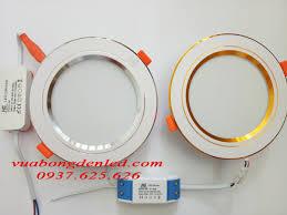 Đèn led âm trần viền bạc viền vàng 7w 9w giá rẻ nhất 0937.625.626