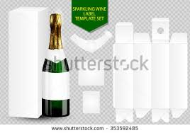 wine packaging template blank white label wine bottle package stock vector 353592485