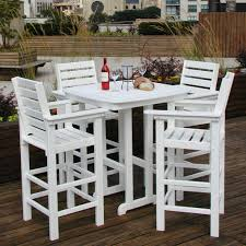 full size of patio elegant white tone deck armchair combined square dining table with bar height