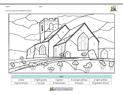 Free coloring pages to print or color online. Easter Color By Number
