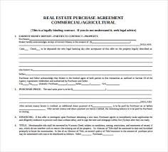Purchase Agreement Samples Agreement For Sale And Purchase Of Real Estate Template Parsyssante