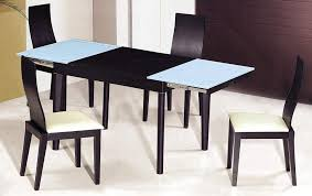 dining sets with chairs extendable wooden with glass top modern dining table sets