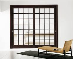 double sliding glass doors with espresso frame
