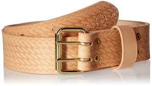 klein leather tool belt. klein tools 5415 heavy-duty embossed leather tool belt, medium - belts for men amazon.com belt