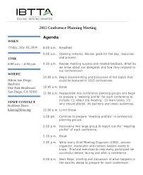 Press Conference Agenda Sample Template – Vanilja