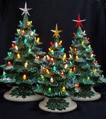 Old Fashioned Ceramic Christmas Tree - 3 Tree Collection. My grandparents  and mom had these