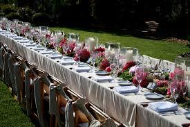 outdoor wedding table setting ideas