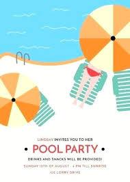 Pool Party Invites Invitation Create A Design Pinterest
