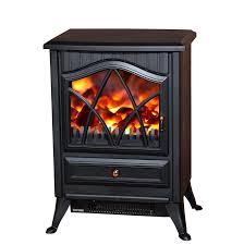 homcom 1850 w flame effect electric fireplace black