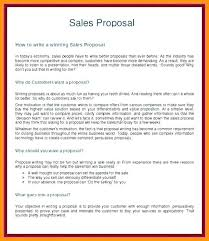 Sales Proposal Template Example Awesome How To Write A